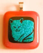 Blue Cat Pendant
