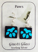 Blue Paw Giusti Dichroic Glass Earrings