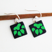 Green Paw Giusti Dichroic Glass Earrings