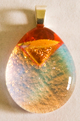 Tear Drop Orange Pendant