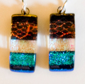 Dichroic Rectangle Earrings