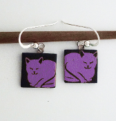 Pink Cat Giusti Dichroic Glass Earrings