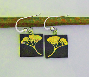 Yellow Gingko Giusti Glass Earrings